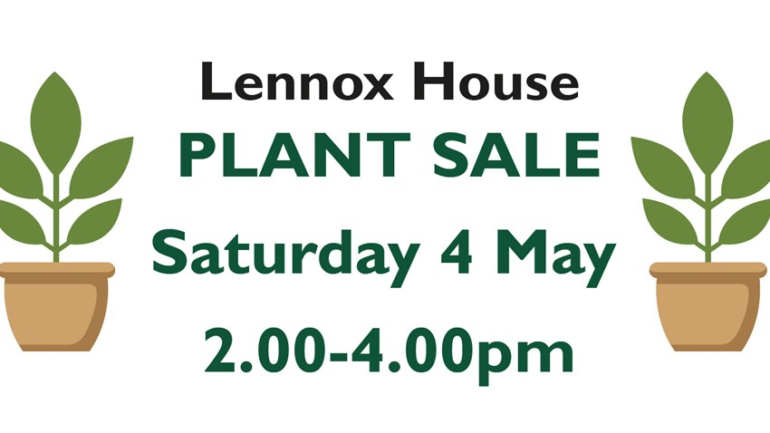Save the Date - Lennox House Plant Sale
